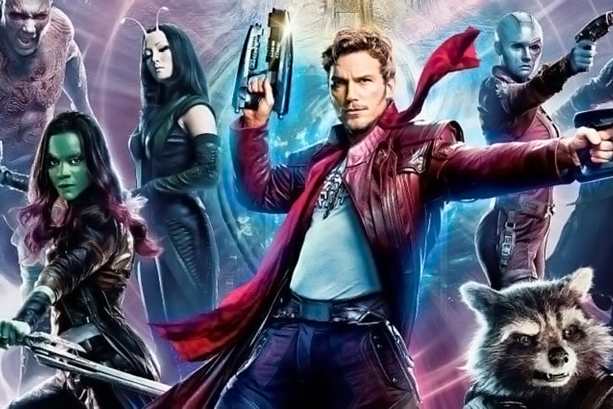 "Cartaz do filme ""Guardiões da Galáxia Vol. 2"" com destaque ao personagem principal Peter Quill, alvo de analise da professora Hellen Reis Mourão"