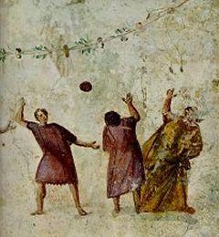 """O esporte conhecido como """"Harpastum""""."""