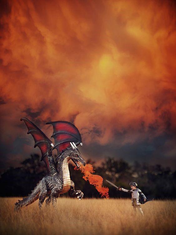 Dragão imaginario infantil