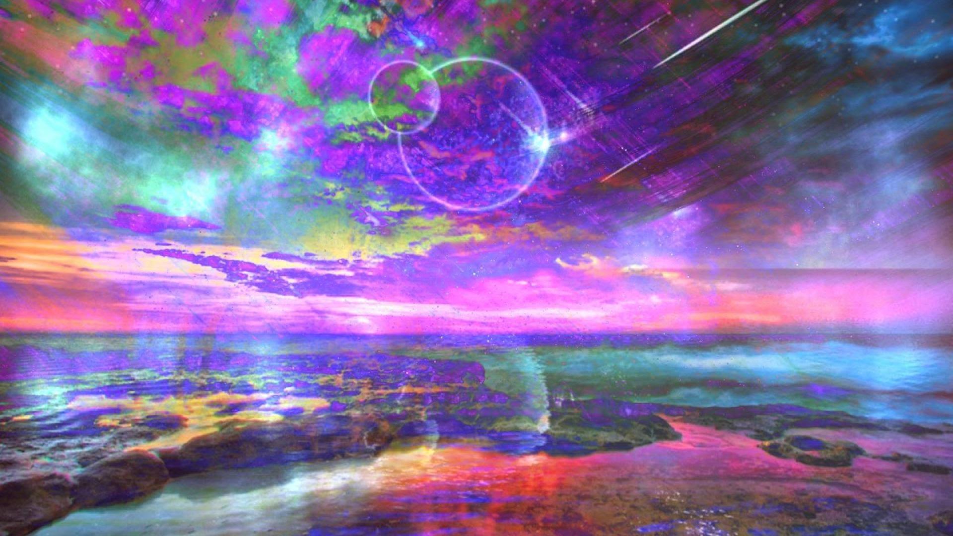 Céu fantasioso ilustrado